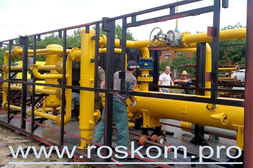 Установка подготовки газа, монтажные работы