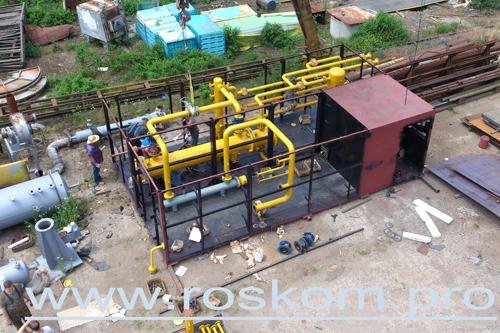Установка подготовки газа, монтаж оборудования