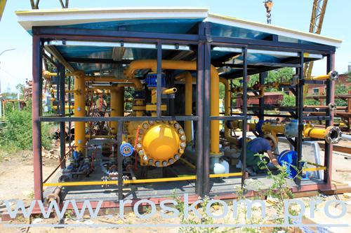 Установка подготовки газа, монтаж вентиляции
